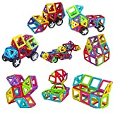261 Pieces Magnetic Building Blocks Set Educational Stacking Tiles Creative Imagination Development Toys by WiAllFun