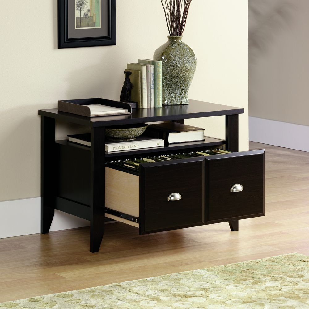 Sauder shoal creek executive desk in jamocha wood - Amazon Com Sauder Shoal Creek Utility Stand Jamocha Wood Kitchen Dining