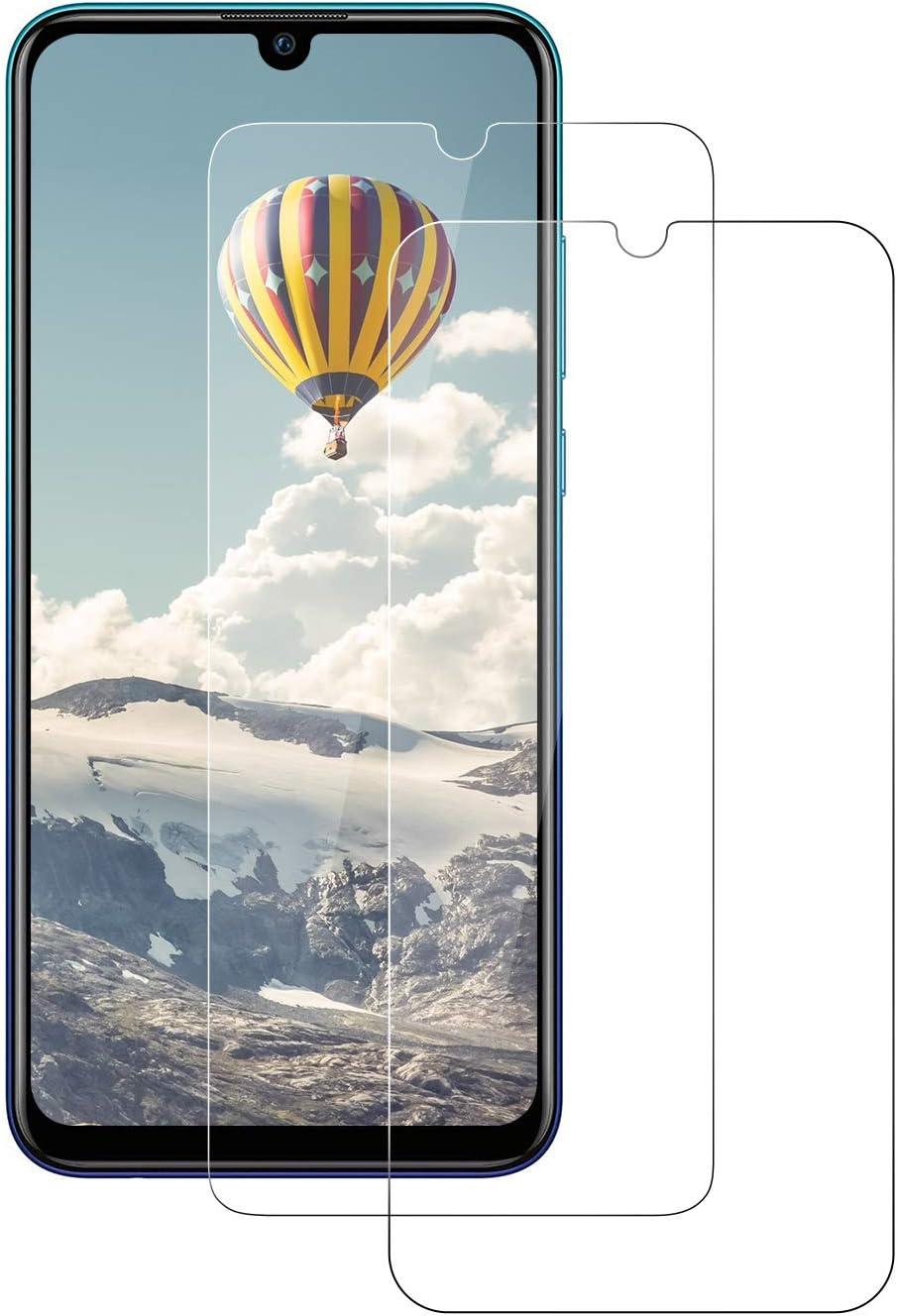 POOPHUNS Cristal Templado Huawei P Smart 2019/Honor 10 Lite, 2-Unidades Protector de Pantalla Cristal Vidrio Templado Premium para Huawei P Smart 2019/Honor 10 Lite 9H Vidrio Real No se despega