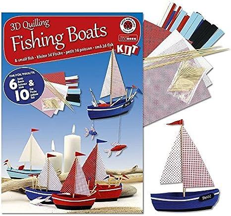 Karen Marie Klip Quilling KIT 3D Fishing Boat//Fish Boot//Fisch