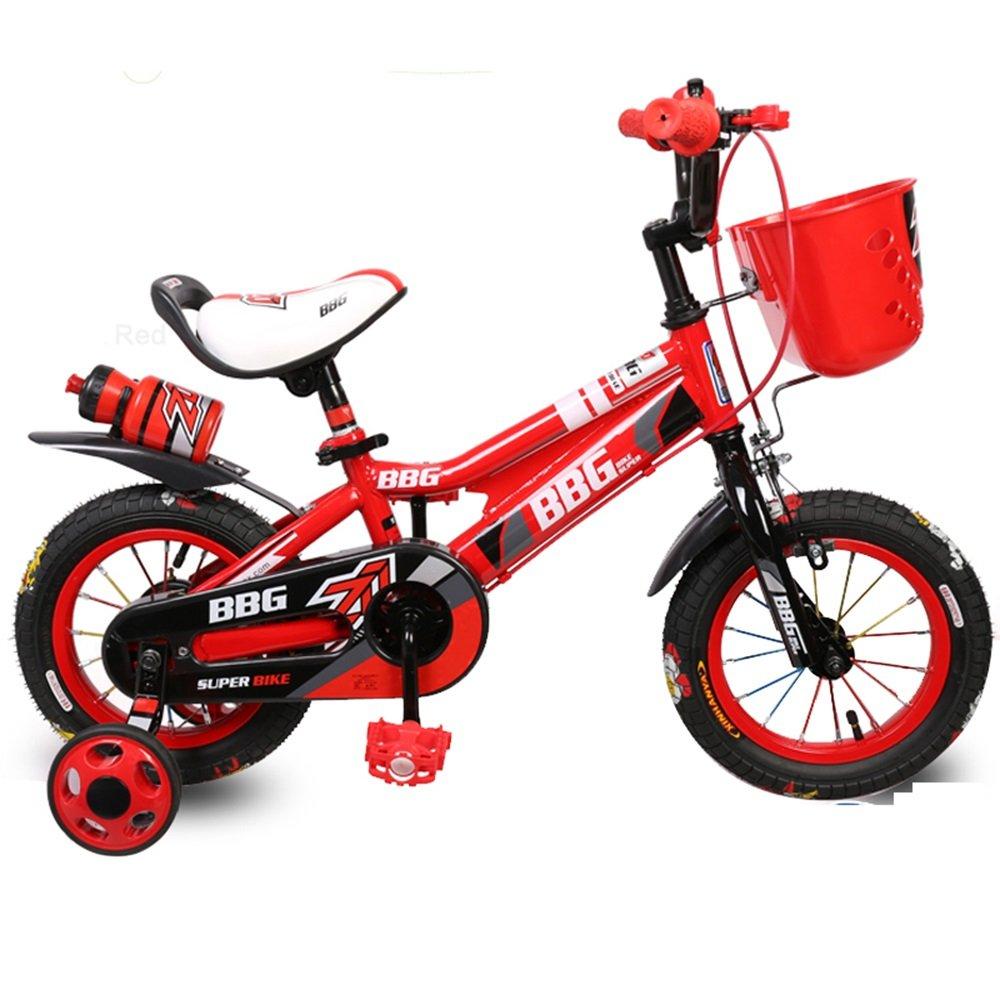 子供用自転車、男性用と女性用の自転車、乳母車、12/14/16インチの26歳の自転車、赤ん坊のおもちゃの車 ( 色 : 赤 , サイズ さいず : 14 inch ) B078KNZPG2 14 inch|赤 赤 14 inch