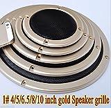 FidgetFidget Speaker grille Car Subwoofer Masks 1pcs 1# 2/4/5/6.5/8/10 inch gold 4 inch