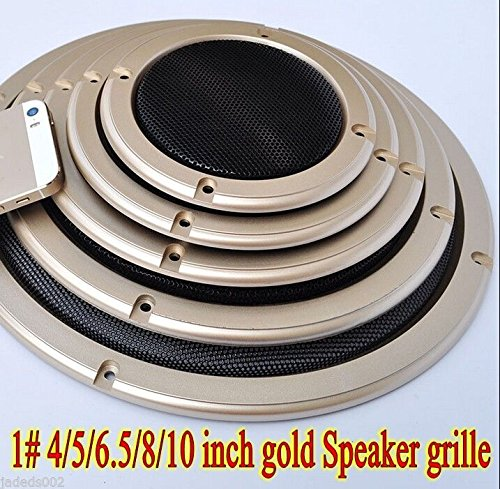 FidgetFidget Speaker grille Car Subwoofer Masks 1pcs 1# 2/4/5/6.5/8/10 inch gold 4 inch by FidgetFidget