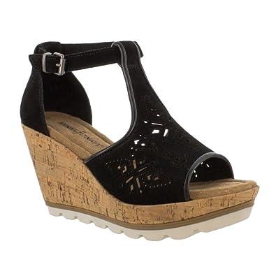 a91111c59f9 Minnetonka Women s Ellis Wedge T Strap Sandal