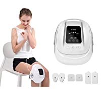 HEZHENG Cordless Compression Knee Massager with Heat and Kneading, Knee Brace Wrap...