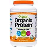 Orgain Organic Plant Based Protein Powder (Peanut Butter, 2.74lb Tub)