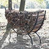 Titan Outdoors Heavy Duty Firewood Log Rack Holder (98'' Crescent)