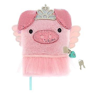 Amazon.com: Claires Girls Poppy The Pig Lock - Agenda de ...