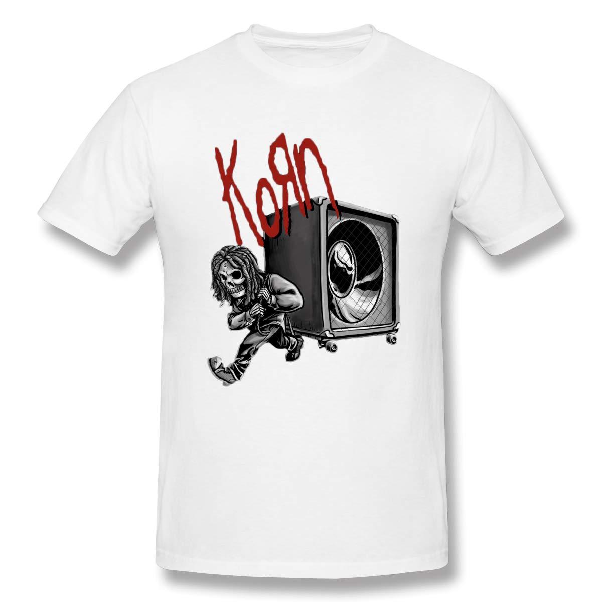 Heavy Metal BandsMens Basic Short Sleeve T-Shirt White Qinhuangdao Pin by Nathan VanNest On Korn in 2019 Korn