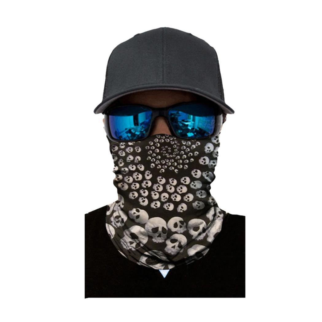 Skull Face Mask for Camping, Running, Cycling, Fishing, Sun Protection Headband for Independence Day (Free Size, A)