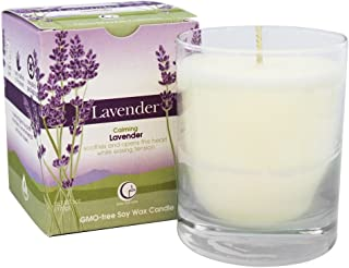 product image for Way Out Wax Aromatherapy Scented Candle, Lavender Fragrance, (6 oz Clear Glass Tumbler); Hand Poured Soy Candles Scented w/Pure Essential Oils, All-Natural