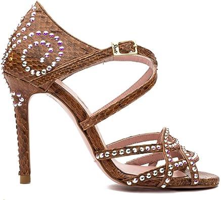 Botánico litro armario  Manuel Reina - Sandalias para Mujer, Zapatos de Tacón Mujer, Playa Zapatos  de Verano - Piel Pitón Cristal Swarovski - Fabricados a Mano - Annette  Brown Python Swarovski: Amazon.es: Zapatos y complementos