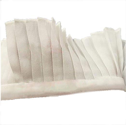 6 cm de ancho blanco negro algodón lino plisado 3d encaje cinta ...