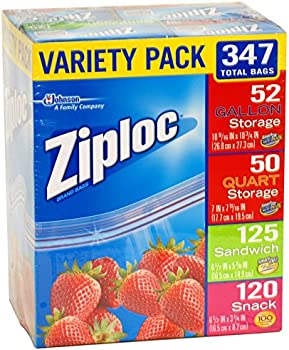 347-Count Ziploc Variety Pack Storage Bags