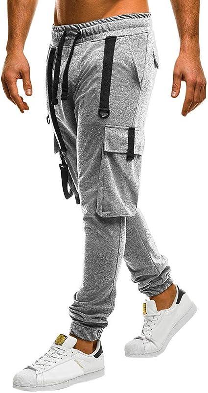 SHE.White Pantalones de jogging para hombre – Chándal para hombre ...
