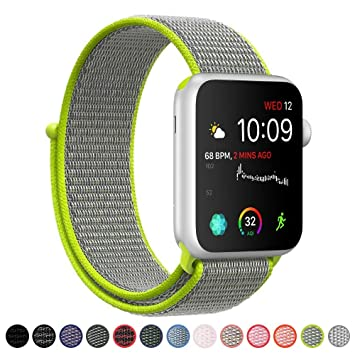 VODKER para Apple Watch Correa Bandas 38mm 42mm 40mm 44mm Nylon Correa de Reloj, Pulsera