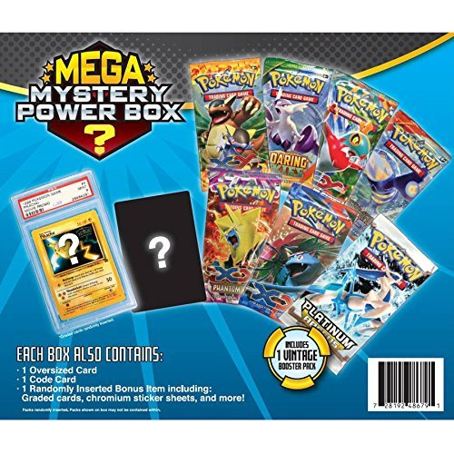 (Radical New Exciting Pokemon Mega Mystery Box Includes 7 Booster Packs And 1 Vintage Mystery Pack, Foil Promo Card, Total Of 81 Cards To Boost Your Collection - Perfect Gift For Any Pokemon Collector!)