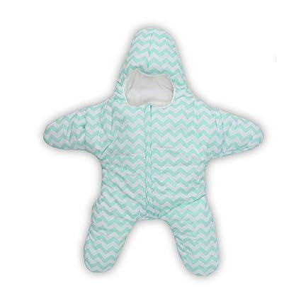 AIBAB Bebé Otoño E Invierno Saco De Dormir Caliente Estrella De Mar Pijama Mono Recién Nacido