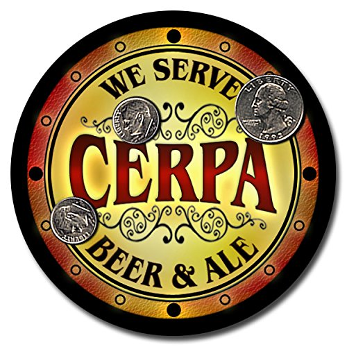 cerpa-family-name-beer-and-ale-rubber-drink-coasters-set-of-4