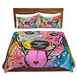 DiaNoche Designs Dean Russo-Loving Joy Labrador Retriever Dog Brushed Twill Home Decor Bedding Cover, 8 King Duvet Sham Set