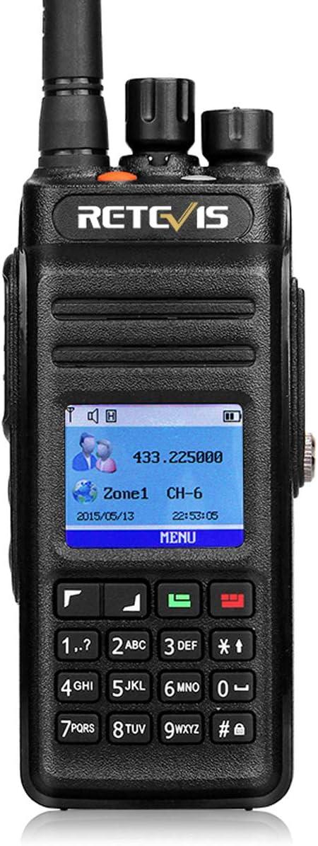 Retevis RT83 DMR Radios Waterproof IP67 Digital Analog UHF High Power Dual Time Slot Recording 1024 CH Group Call SMS 2 Way Radio Long Range (1 Pack)