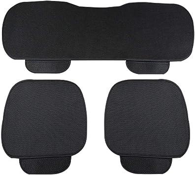 Wetour Universal Autositzauflage Beige Auto Sitzkissen Vorne Hinten Sitzbezug Set Sommer Auto Sitzbezug Eis Seide Atmungsaktiv Sitzauflage Auto