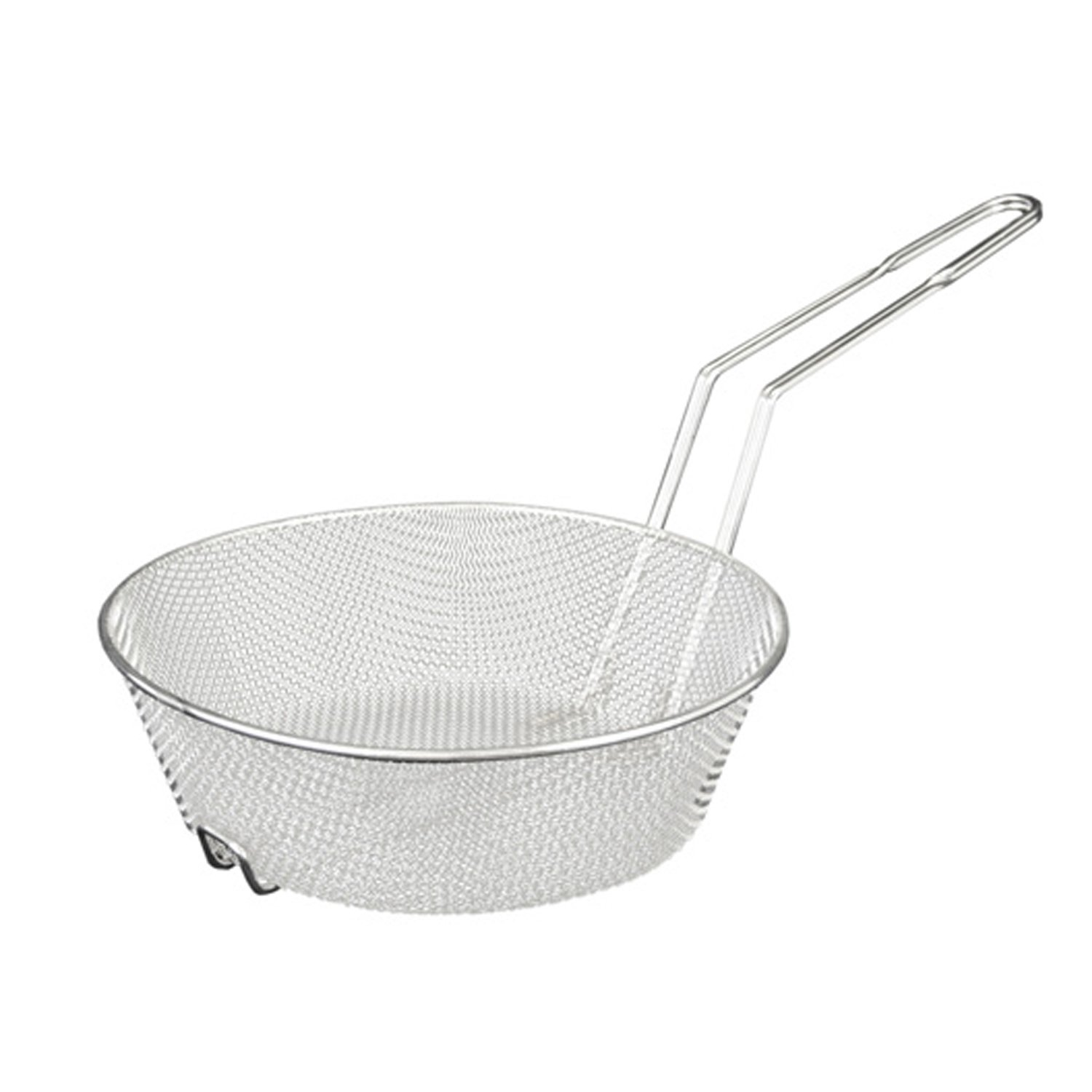 Excellanté 10-Inch Round Nickel Plated Culinary Basket, Medium Mesh