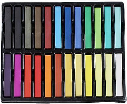 BONAMART ® 24 Colores no tóxicos Pelo temporal tiza del tinte Soft Pastels Salon Kit Nuevo
