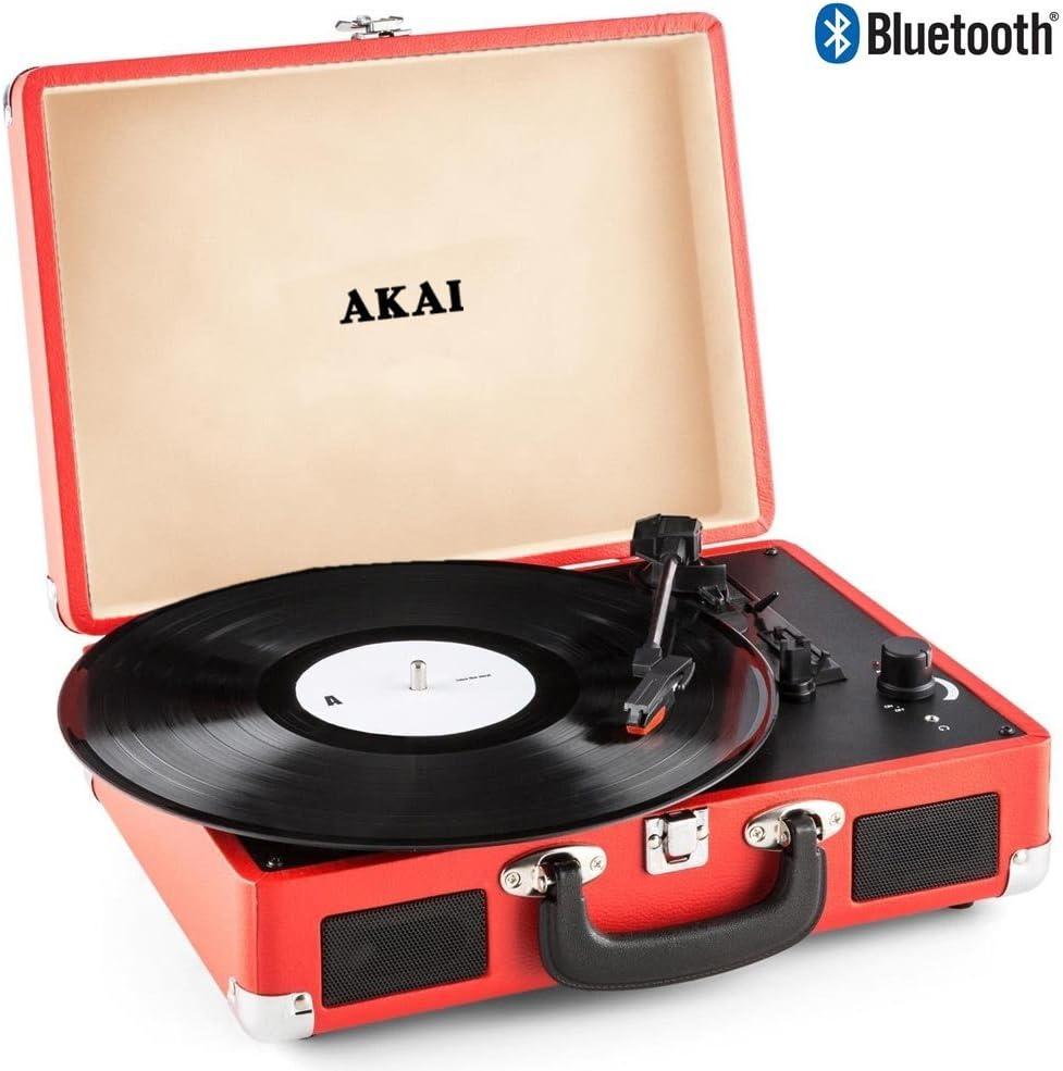 Akai - Tocadiscos de maletín, Compacto, portátil, 33-45-78 RPM ...