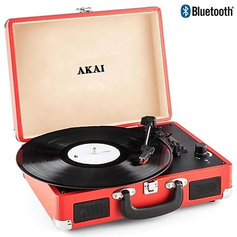Akai - Tocadiscos de maletín, Compacto, portátil, 33-45-78 ...