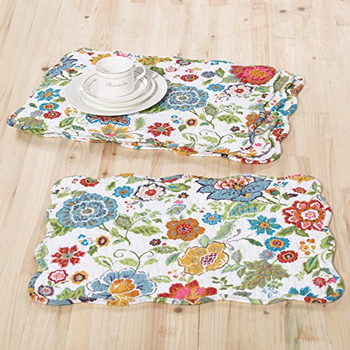 Greenland Home Astoria Placemat Set, White by Greenland Home (Image #1)