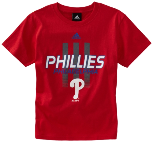 Philadelphia Phillies Red Game (MLB Youth Philadelphia Phillies Pre-Game S/S Tee (red, Medium))
