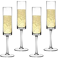 Champagne Flute Elegant Hand Blown Wedding Champagne Flutes Glasses Lead-free 4/pack