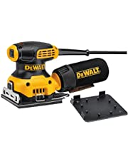 DEWALT DWE6411-GB DWE6411 Sheet Sander, Yellow/Black, 240 V, Set of 3 Pieces