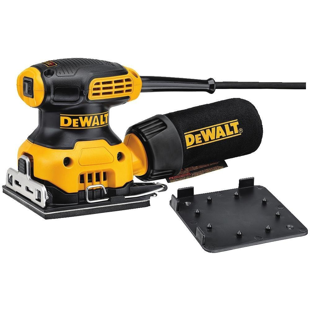Dewalt DWE6411-LX Sheet Sander, 240 W, Yellow/Black, 110 V, Set of 3 Pieces