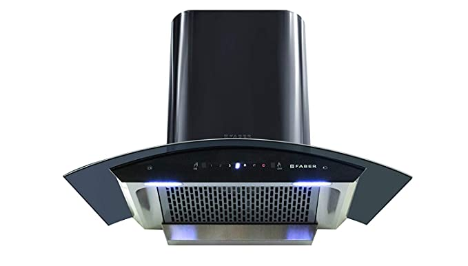 Faber 90 cm 1200 m3/hr Heat Auto Clean Chimney (HOOD CREST HC SC BK 90, Filterless, Touch & Gesture Control, Black)
