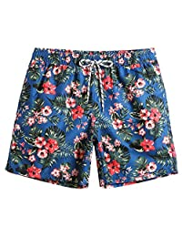 d589a4239c736 MaaMgic Mens Slim Fit Quick Dry Short Swim Trunks with Mesh Lining