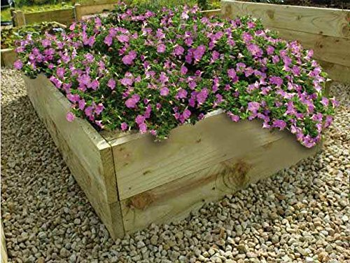 Blumenhochbeet aus Holz, 35 cm hoch (121cm x 121cm)
