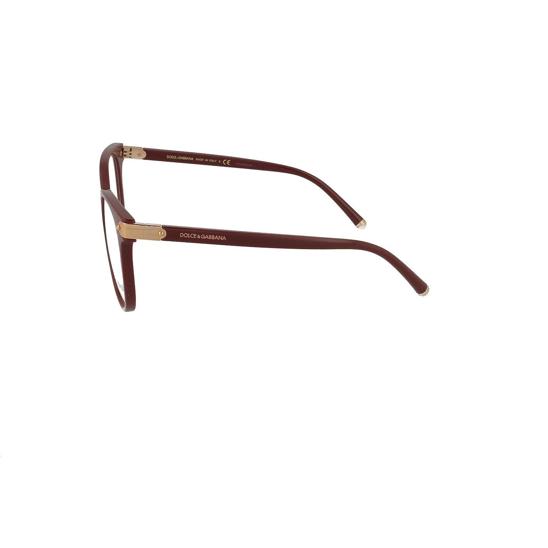 8777303af6 Amazon.com  Dolce   Gabbana Welcome DG 5032 Burgundy 53 17 140 Women Eyewear  Frame  Clothing
