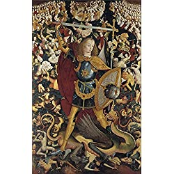 The Perfect Effect Canvas Of Oil Painting 'Anonymous The Archangel Saint Michael Ca. 1495 ' ,size: 24 X 38 Inch / 61 X 97 Cm ,this Reproductions Art Decorative Prints On Canvas Is Fit For Kitchen Gallery Art And Home Decor And Gifts
