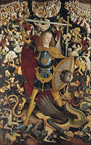 Oil Painting 'Anonymous The Archangel Saint Michael Ca. 1495 ' Printing On Perfect Effect Canvas , 16 X 25 Inch / 41 X 65 Cm ,the Best Living Room Decoration And Home Artwork And Gifts Is This Reproductions Art Decorative Prints On Canvas (Centerpieces Wood Michaels)