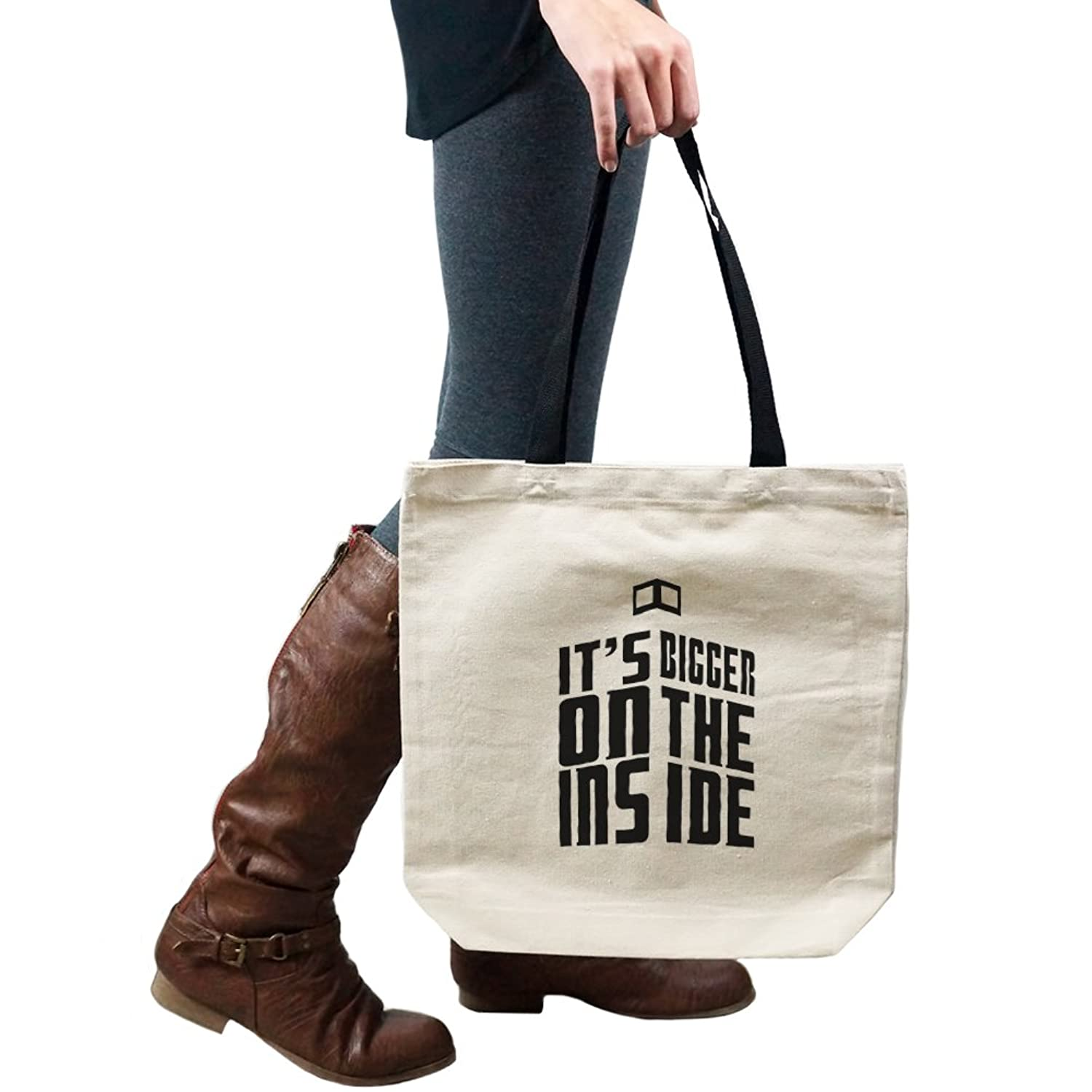 Dr. Who Inspired Bigger On The Inside Tardis Silhouette Tote Handbag Shoulder Bag Purse