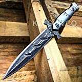 9″ TACTICAL COMBAT BOOT KNIFE Diablo MILITARY BOWIE DAGGER Fixed Blade New