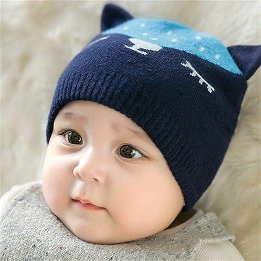 Nuevo Gorro de algodón para bebé, niños y niñas, Gorro de Lana ...