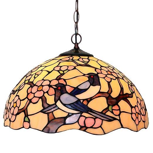 Amazon.com: Lámpara de techo estilo Tiffany de 16 pulgadas ...