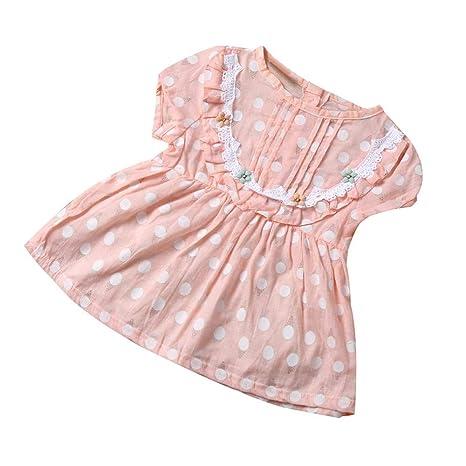 feiXIANG Vestidos para niñas de los niños Vestido Estampado Floral de la niña Fiesta para niños