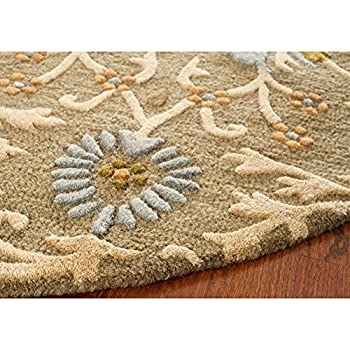 Safavieh Cambridge Collection CAM235A Handcrafted Moroccan Geometric Moss and Multi Premium Wool Round Area Rug (6 Diameter)