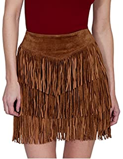 43ee0e0efc Amazon.com: Stetson Womens Brown Leather Suede Skirt Western ...