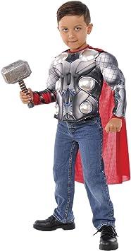 Avengers - Disfraz de Thor para niños, pecho musculoso y martillo ...