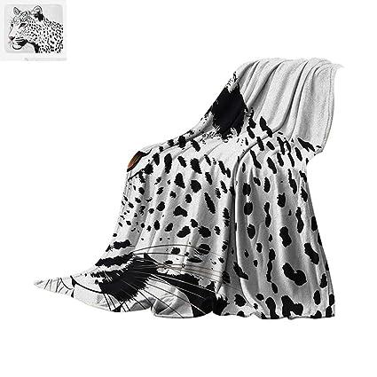 fc4b1a1756424 Tattoo Custom Design Cozy Flannel Blanket Astonishing Big Cat Famous Symbol  of The Courage Leopard Head